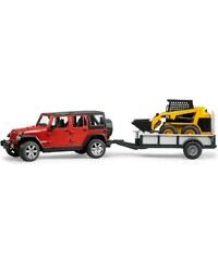 bruder® Geländewagen, »Jeep Wrangler Unlimited Rubicon, Einachshänger + CAT Kompaktlader«
