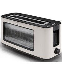 KITCHEN ORIGINALS BY KALORIK TEAM KALORIK Glas-Toaster TO 1012 KTO, 1100 Watt, mit Glasssichtfenster, creme / schwarz
