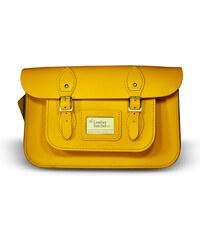 """The Leather Satchel Co. 12,5"""" kožená brašna Leather Satchel Double Yellow"""