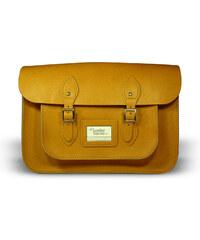"""The Leather Satchel Co. 14"""" kožená brašna Leather Satchel Autumn Tan"""