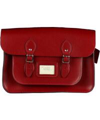 """The Leather Satchel Co. 14"""" kožená brašna Leather Satchel Pillarbox Red"""