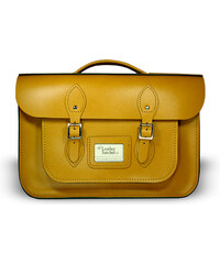"""The Leather Satchel Co. 15"""" kožená aktovka Leather Satchel Autumn Tan"""
