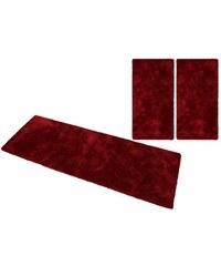 Hochflorbettumrandung 3tlg. Selection Magong Höhe 25 mm handgetuftet MY HOME SELECTION rot 14 (3tlg. Bettumrandung)