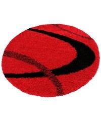 MY HOME Hochflorteppich rund Ankara Höhe 52 mm gewebt rot 10 (Ø 190 cm),9 (Ø 140 cm)