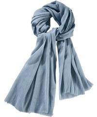 Damen Schal mit feiner Fransenkante J. JAYZ blau