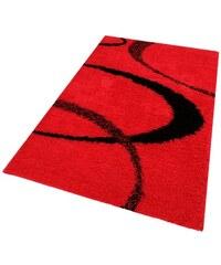 MY HOME Hochflorteppich Ankara Höhe 52 mm gewebt rot 1 (B/L: 60x90 cm),2 (B/L: 80x150 cm),3 (B/L: 120x180 cm),4 (B/L: 160x230 cm),5 (B/L: 200x200 cm),7 (B/L: 240x320 cm)