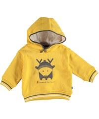 Mikina s kapucí Star Babies dět. žlutá
