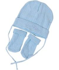 Bugga Chlapecký kojenecký set čepice a rukavic