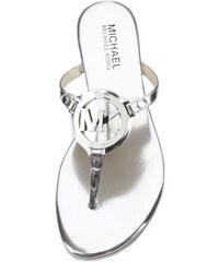 MICHAEL KORS žabky Melodie Logo-stříbrná-37,5