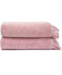 Casa Di G. Bassi Sada 2 růžových bavlněných ručníků Casa Di Bassi Face, 50 x 90 cm
