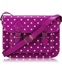 LS Bags retro kabelka Spotty, fuchsiová s puntíky