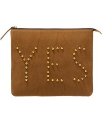 House of Cases YES Clutch cognac