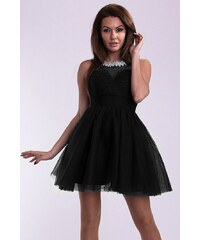 YNS Dámské společenské plesové šaty EVA LOLA černé