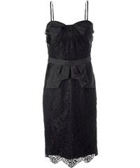 Korzetové černé krajkové šaty APART (vel.38 skladem) 38 černá Dopravné zdarma!