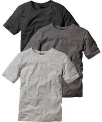 bpc bonprix collection Lot de 3 T-shirts Regular Fit gris manches courtes homme - bonprix