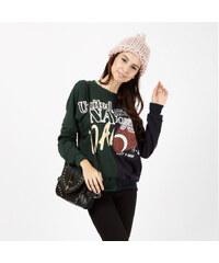 Lesara Sweater mit Sport-Print - S