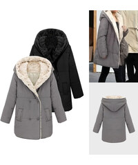 Lesara Manteau d´hiver avec capuche