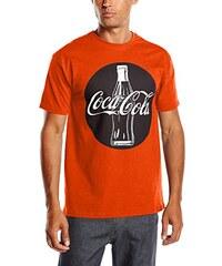 Coca-Cola Herren T-Shirt Bottle Circle Black