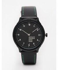Mondaine - Helvetica NY - Montre bracelet cuir - Noir