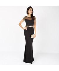 Lesara Abendkleid mit transparentem Dekolleté - XL