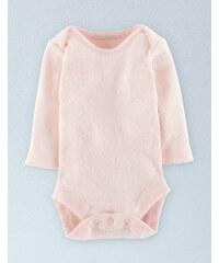 Superweicher Body mit Zierborte Pink Baby Boden