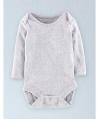 Superweicher Body mit Zierborte Grau Baby Boden