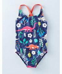 Witziger Badeanzug Navy Mädchen Boden