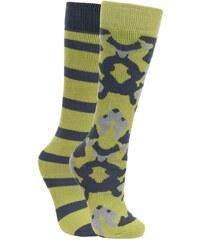 Trespass Dětské lyžařské ponožky Diddle, EUR 31-35, 2 páry