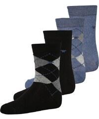 TOM TAILOR 4 PACK Socken light denim melange/black