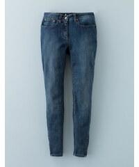 7/8-Jeans mit Reißverschluss Indigoblau Damen Boden