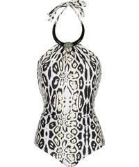 Lenny Niemeyer Maillot Une Pièce Collier, Léopard Noir Et Blanc - Stone Necklace Maillot Leopard