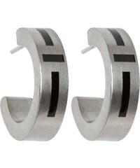 OXXO Ohrringe steel/black enamel
