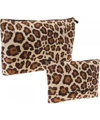 Golddigga Wash Bag Set Ladies, leopard