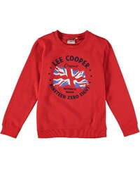 Lee Cooper Flag Crew Sweater dětské Boys Red