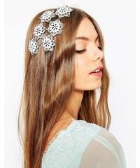 ASOS Wedding - Verzierter Blumen-Haarschmuck - Weiß