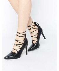 Senso - Roxi II - Escarpins en cuir à talons style ghillie - Noir - Noir