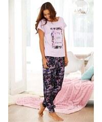 Buffalo Pyjama mit legerer Hose & Shirt mit Frontprint lila 32/34,36/38,40/42,44/46