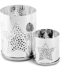 Sada 2 svícnů Silver Star Tea