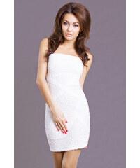 Dámské šaty bez ramínek EMAMODA bílé