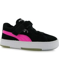 Puma Suede S Infant Girls Trainers Black/Pink