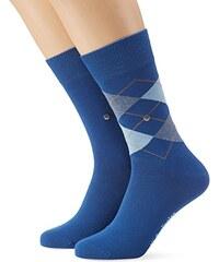 Burlington Herren Socken Everyday Argyle-uni Mix 2er Pack
