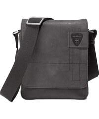Kožená taška přes rameno Strellson Richmond Messenger SV - černá