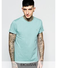 Farah - Schmales T-Shirt mit F-Logo, exklusiv - Grün