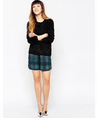 House of Holland - Karierte Shorts - Schwarz
