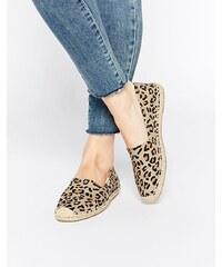 Soludos - Chaussures plates style espadrilles à motif léopard - Multi