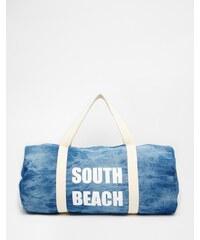 South Beach - Denim-Henkeltasche für den Strand - Blau