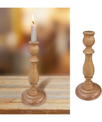 Lesara Kerzenständer aus Eichenholz