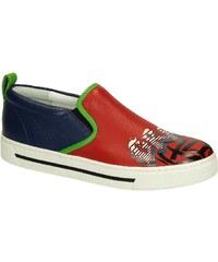 Sneakers slip-on Marc Jacobs en cuir rouge/bleu foncé