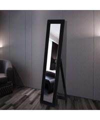 Černé nastavitelné stojící zrcadlo Jaelyn