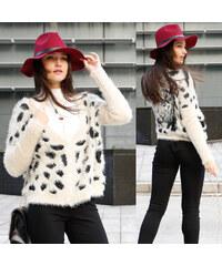 Lesara Chenille-Cardigan mit Tiger-Motiv - Leopard - S